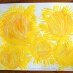 Star Burst Craft using Fork Painting