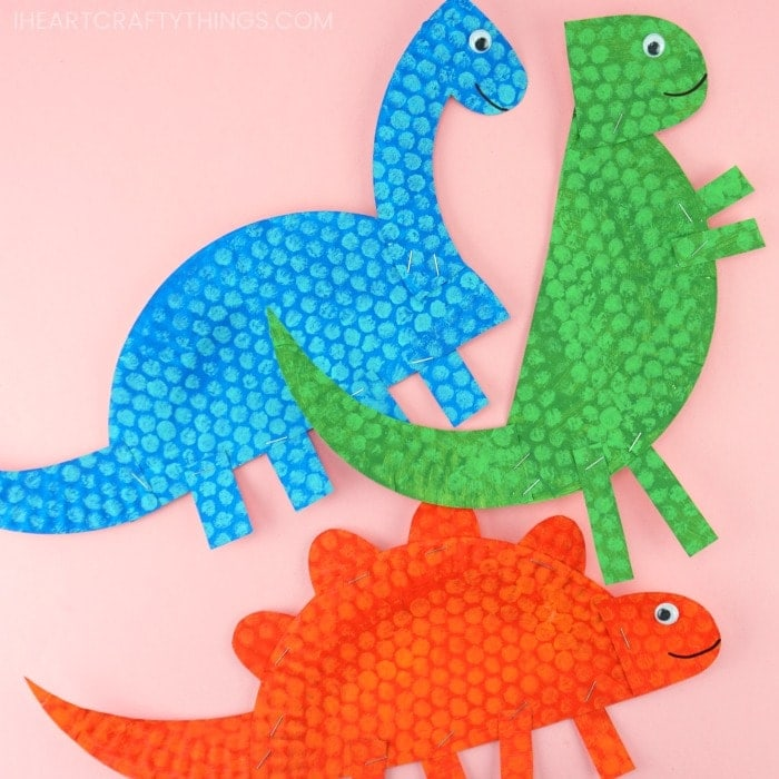 Easy dinosaur craft for kids from paper plates.