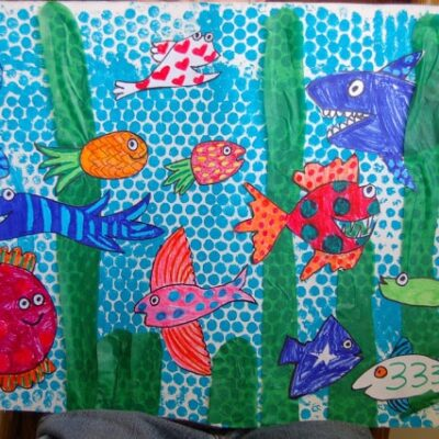 """Hooray For Fish"" Mural"