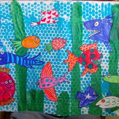 """""""Hooray For Fish"""" Mural"""