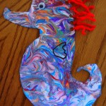 Mister Seahorse Craft with Lacing Practice