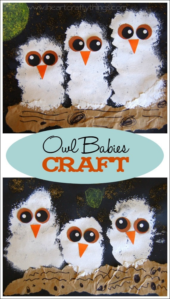 Quot Owl Babies Quot Craft I Heart Crafty Things