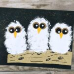 Adorable owl babies craft to go with the book Owl Babies by Martin Waddell. Cute owl craft for kids and fall art project for kids.