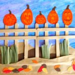 Five Little Pumpkins Craft for kids that goes along with the classic five little pumpkins rhyme. Great Halloween craft for kids and pumpkin craft for kids.