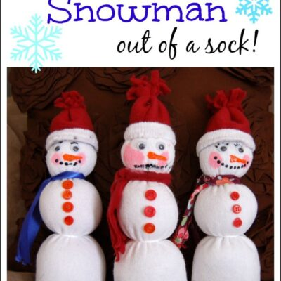 Make a Snowman out of your child's sock!