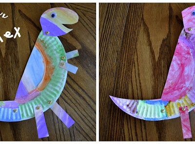 Paper Plate T-Rex