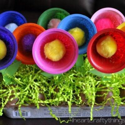 Planting a Rainbow Flower Garden Craft