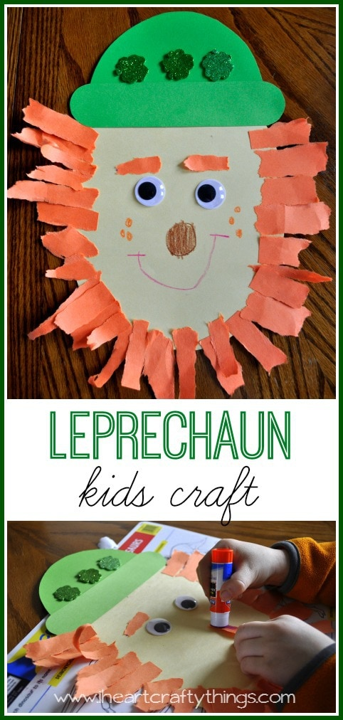 Kids leprechaun craft i heart crafty things for Easy things to make out of paper for kids