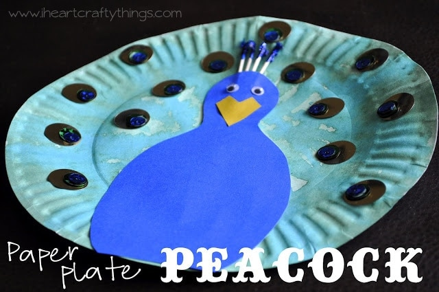 Paper Plate Peacock & Paper Plate Peacock | I Heart Crafty Things