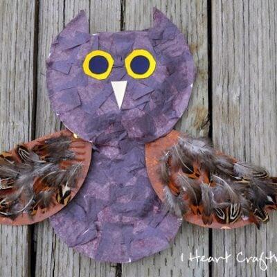 A Textured Owl Craft