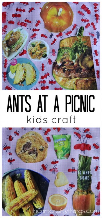 Ants at a picnic kids craft i heart crafty things for Picnic food ideas for large groups