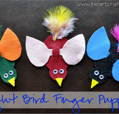 Bright Bird Finger Puppets