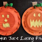 Pumpkin Face Lacing Practice