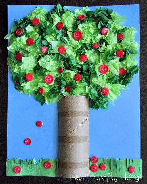Как сделать дерево из материала своими руками