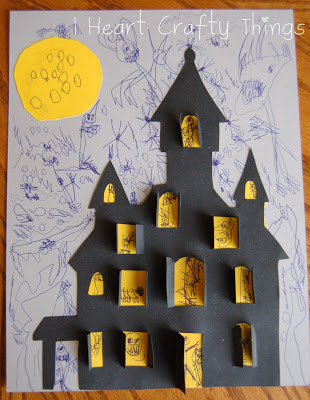 Haunted House Craft I Heart Crafty Things