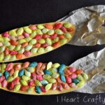 Indian Corn Craft using Dyed Pumpkin Seeds