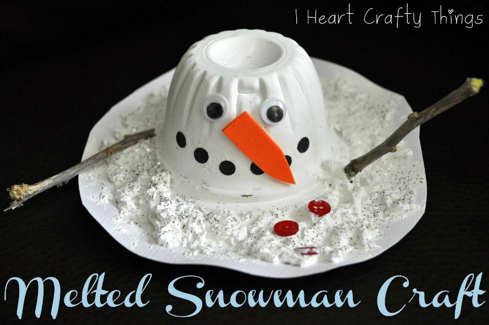 Melted Snowman Craft I Heart Crafty Things