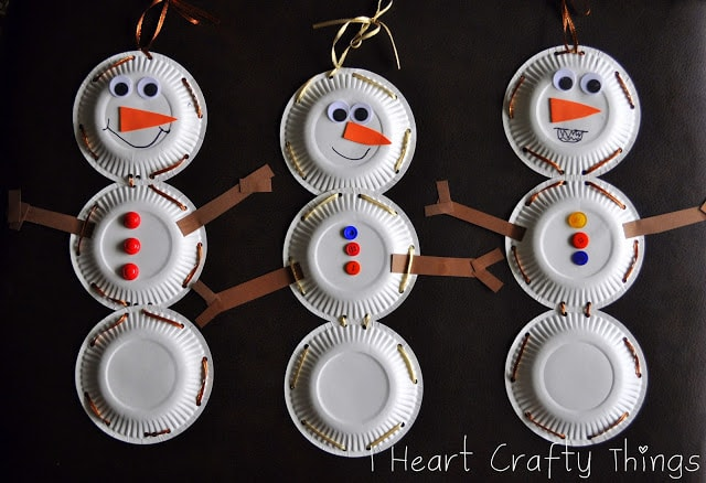 http://www.iheartcraftythings.com/2012/11/paper-plate-snowman-with-lacing-practice.html