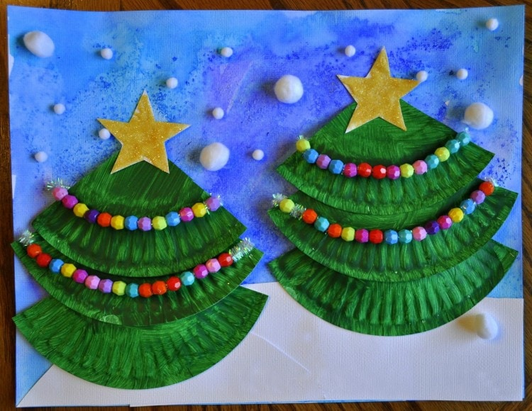 Christmas Tree Art I Heart Crafty Things