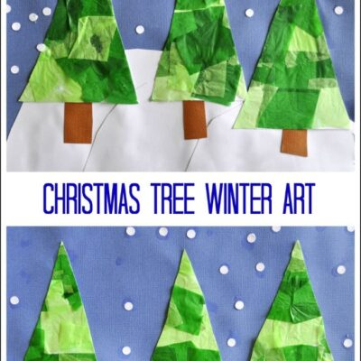 Christmas Tree Winter Art