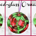 Stained-Glass Plastic Lid Ornaments