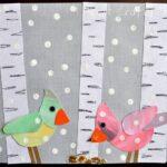 Aspen Tree and Birds Winter Art Project