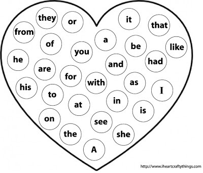 Valentine S Sight Word Practice I Heart Crafty Things
