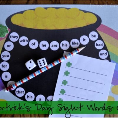 St. Patrick's Day Sight Words Game (with free printable)