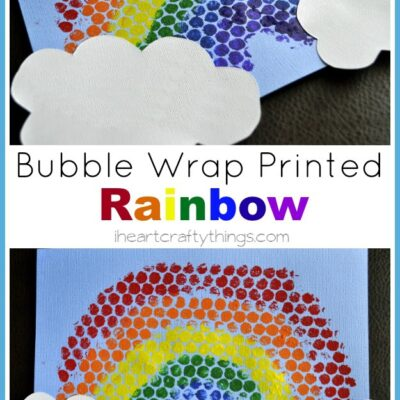 Bubble Wrap Printed Rainbows
