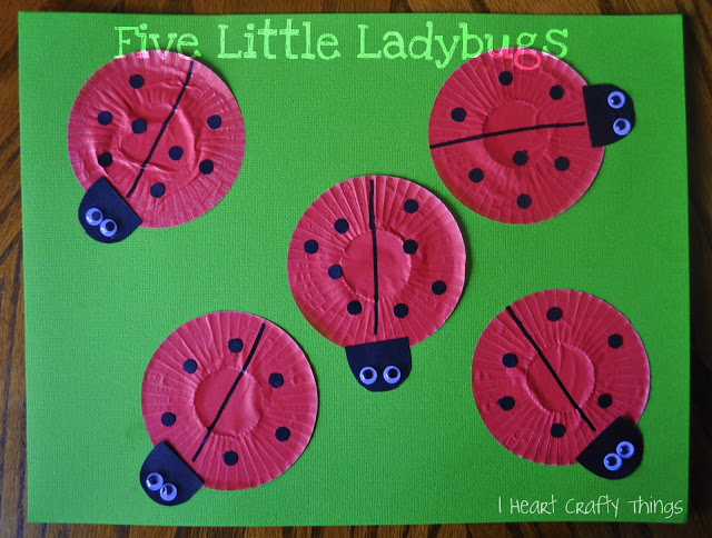 Five Little Ladybugs I Heart Crafty Things