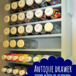 Antique Drawer turned Craft Supply Organizer
