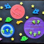 Cupcake Liner & Foam Sticker Space Craft
