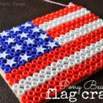 Pony Bead Flag Craft
