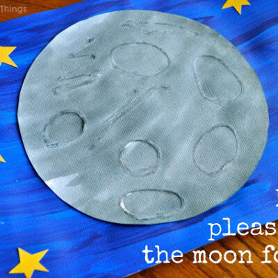 Eric Carle Inspired Moon Art (touch and feel textured Moon)