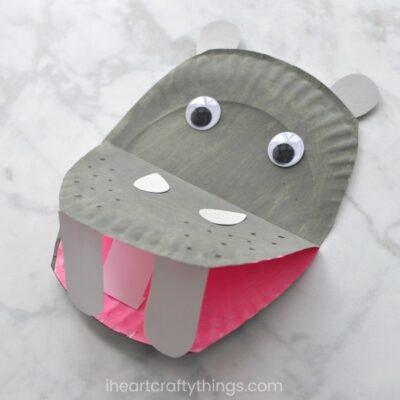Paper Plate Hippopotamus
