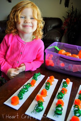 Pumpkin Pattern Worksheet (for Sensory Bin)