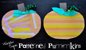 Washi Tape Patterned Pumpkins