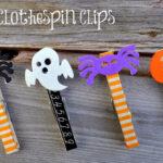Halloween Clothespin Clips