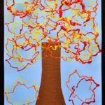 Cookie Cutter Stamped Fall Tree