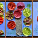 Fall Cupcake Liner Tree Craft