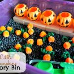 Five Little Pumpkins Sensory Bin