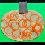 Circle Stamped Pumpkins