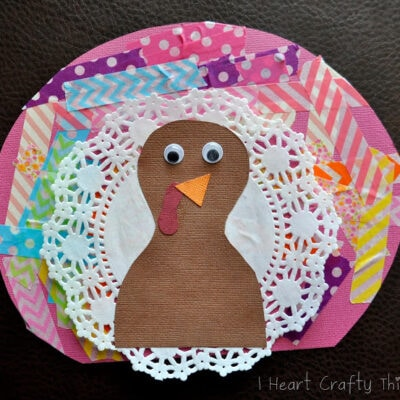 Washi Tape Turkey Craft