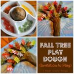Fall Tree Play Dough (Invitation to Play)