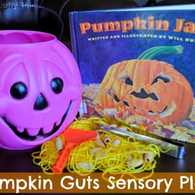 Pumpkin Guts Sensory Play