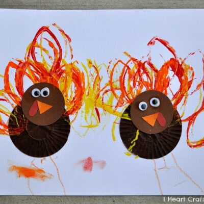 Cupcake Liner Turkey Craft