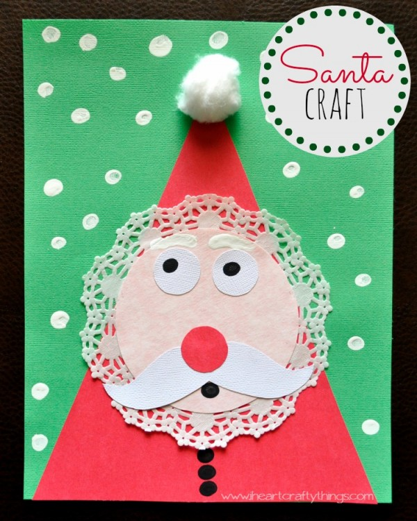 i was excited about the challenge and turned to pinterest for some inspiration one of the crafts i used in the kits was an adorable kids santa craft found - Santa Crafts