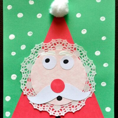 Adorable Kids Santa Craft for Christmas