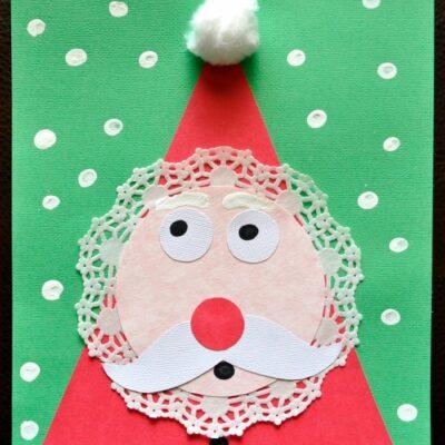 Adorable Kids Santa Craft for Christmas
