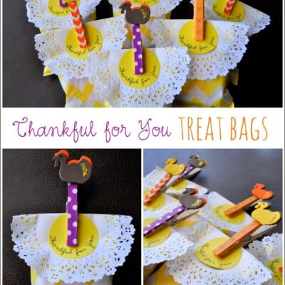 """Thankful for You"" Treat Bags"